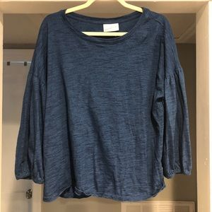 Blue universal thread top